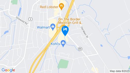 Holiday Inn Express Hartford South - Rocky Hill, an IHG Hotel Map