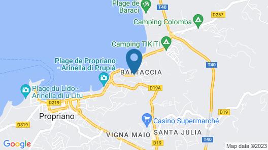Miramar Corsica Map