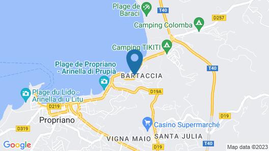 Hotel Sampiero Corso Map