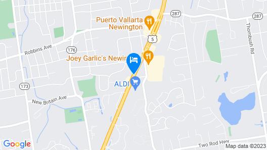 Holiday Inn Express Newington - Hartford Map