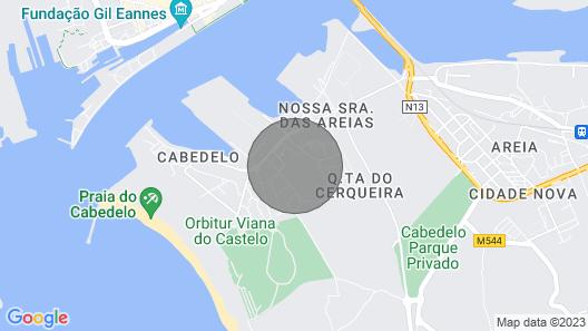 Viana do Castelo, Praia Cabedelo, Quinta das Areias Map