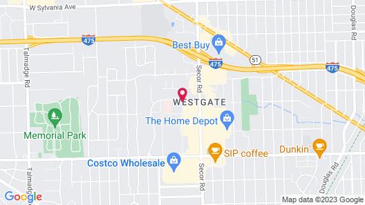 Red Roof Inn Toledo - University Map