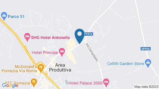 Hotel President Pomezia Map