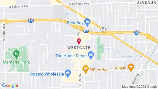 Hampton Inn & Suites Toledo/Westgate Map