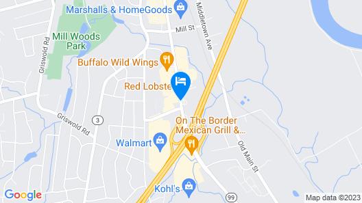 Comfort Inn Wethersfield - Hartford Map