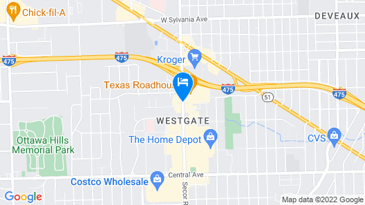 Holiday Inn Express & Suites Toledo West Map