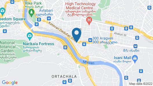 Sheraton Grand Tbilisi Metechi Palace Map