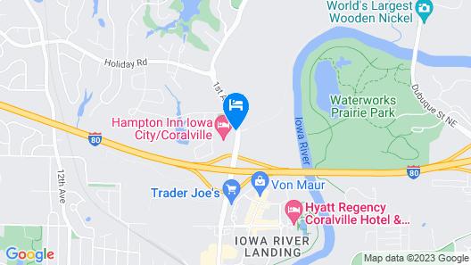 Radisson Hotel & Conference Center Coralville - Iowa City Map