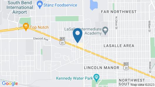 Knights Inn South Bend Map