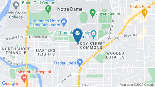Embassy Suites by Hilton South Bend at Notre Dame Map