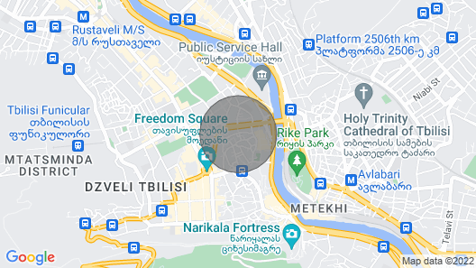 Best Location Heart of old Tbilisi Map