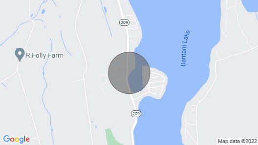 Waterfront Retreat on Bantam Lake With Private Beach - Winter Ski Getaway Map