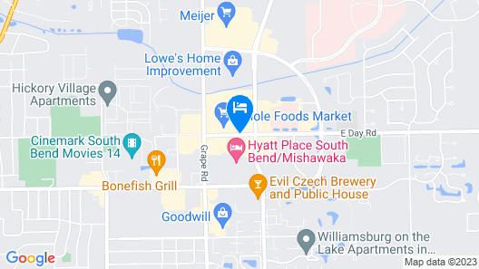 Hyatt Place South Bend / Mishawaka Map