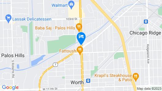 Palos Motel Map