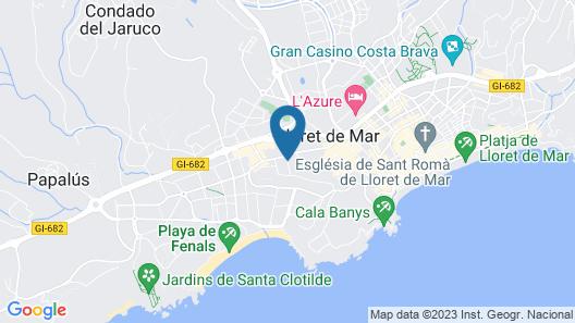 Apartamentos ALEGRIA Bolero Park Map