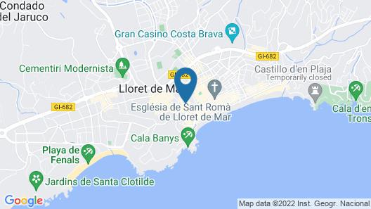Gran Hotel Flamingo – Adults Only Map
