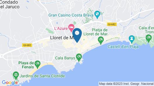 Hotel Helios Lloret Map