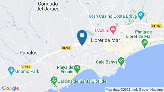 Hotel GHT Aquarium & Spa Map