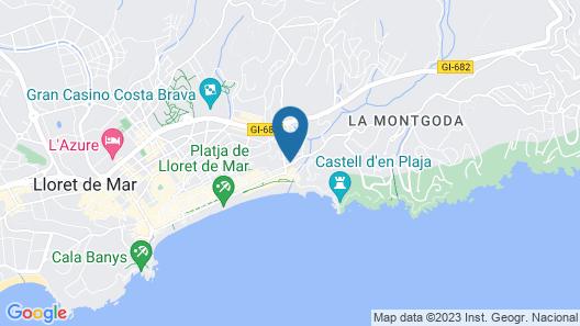 Hotel Rosamar Es Blau****S - Adults Only Map
