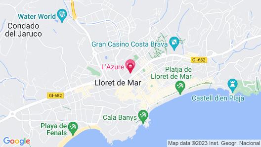 L'Azure Hotel Map