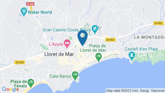 AQUA Hotel Bertran Park Map