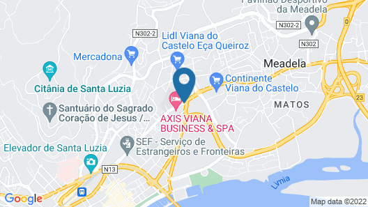 Axis Viana Business & SPA Hotel Map