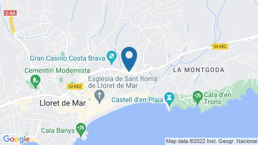 Hotel Best Lloret Splash Map