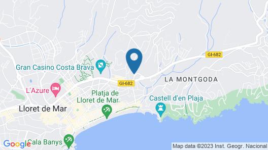 Hotel Blue Sea Montevista Hawai Map