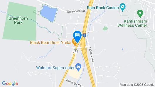 Motel 6 Yreka, CA Map
