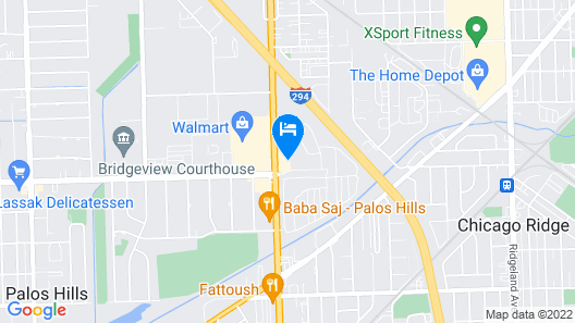Blue Star Motel Map