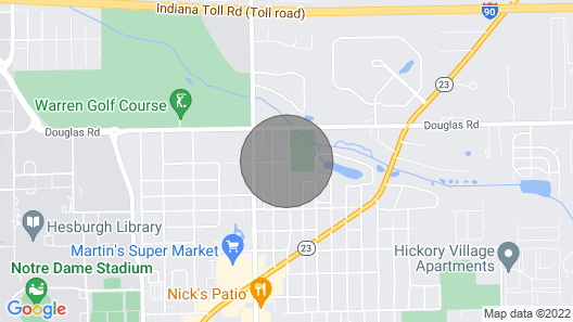 J & R, 1 Mile to Warren Golf & Notre Dame Map
