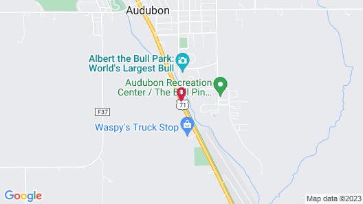 Blue Grass Inn & Suites Map