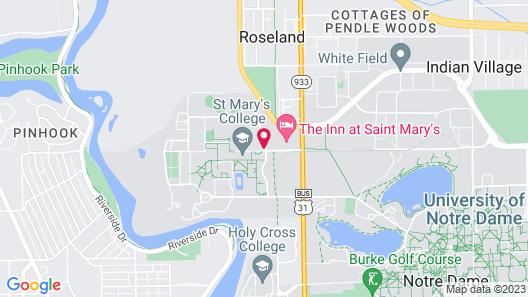 Hilton Garden Inn South Bend Map