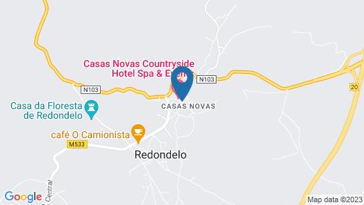 Casas Novas Countryside Hotel Spa & Events Map