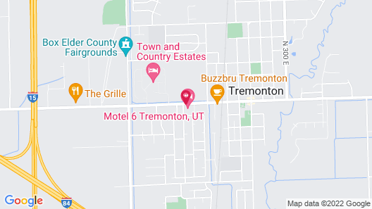 Motel 6 Tremonton, UT Map
