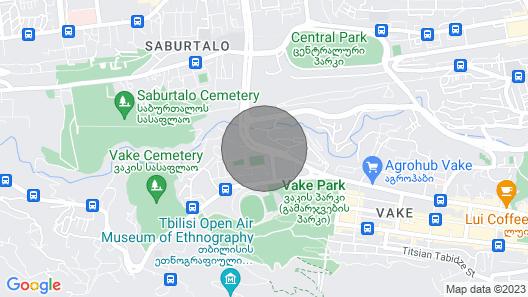 City  dorm   tbilisi Map