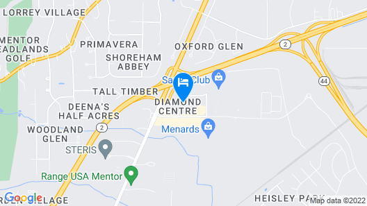 Hampton Inn & Suites Cleveland Mentor Map