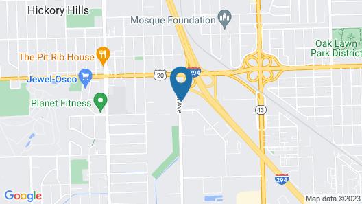 Motel 6 Bridgeview, IL Map