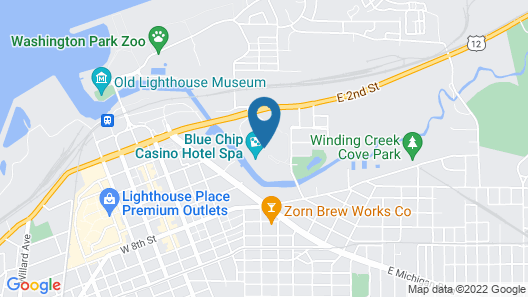 Blue Chip Casino Hotel and Spa Map