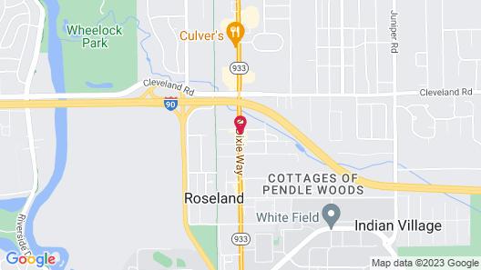 Hampton Inn & Suites South Bend Map