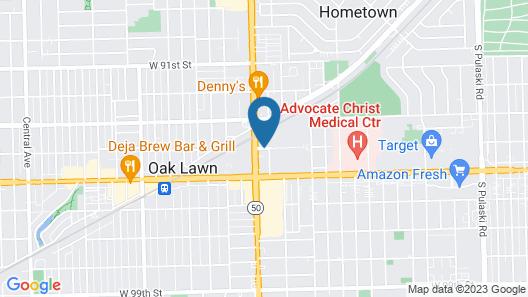 Hilton Chicago/Oak Lawn Map