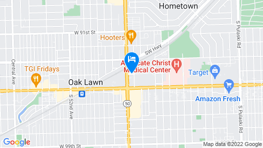 Hilton Chicago/Oak Lawn Map