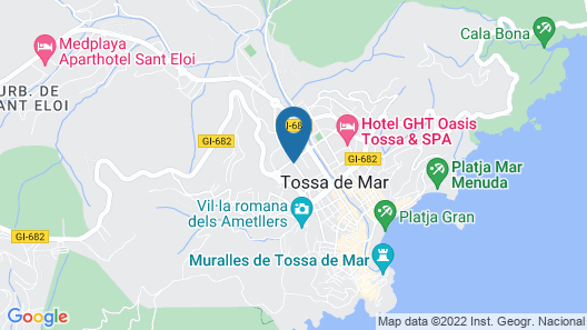 Golden Bahía de Tossa & Spa Map