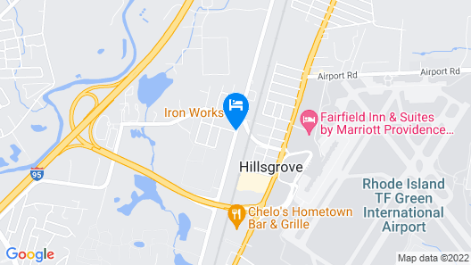 Hilton Garden Inn Providence Airport/Warwick Map