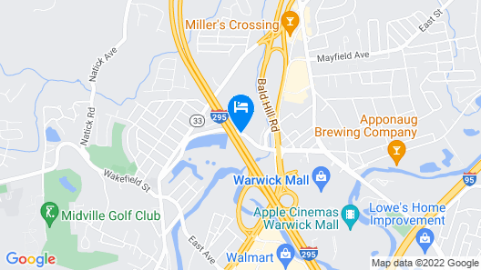Extended Stay America - Providence - Warwick Map