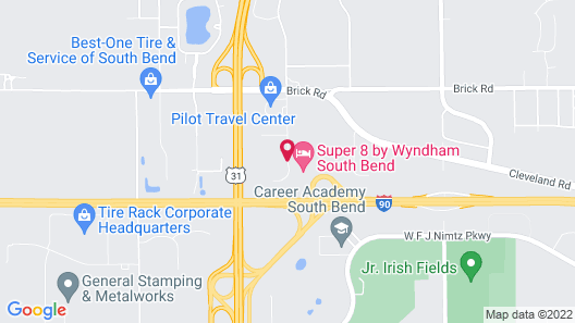 Super 8 by Wyndham South Bend Map