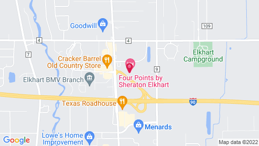 Four Points by Sheraton Elkhart Map
