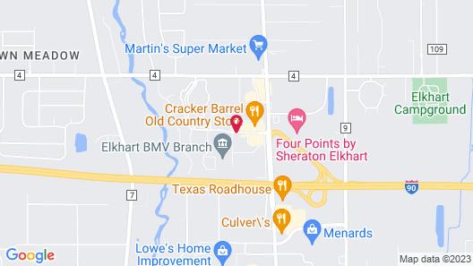 Hampton Inn Elkhart IN Map