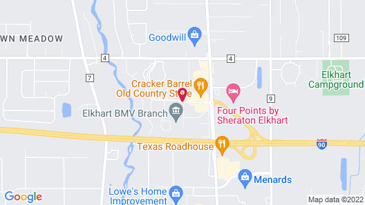 Candlewood Suites Elkhart Map