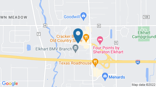 Candlewood Suites Elkhart, an IHG Hotel Map